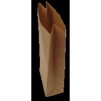 Papirnate vrečke, 80 g, 1 kg, 12 x 26 + 6.6 cm, naravno rjave, 10 kosov