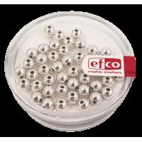 Perle Ø4 mm, srebrne, 40 kosov