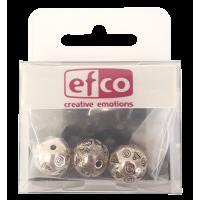 Plastične perle, Ø14 mm, barva starega srebra, 3 kosi