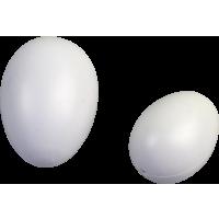 Plastično jajce 118 x 85 mm, belo