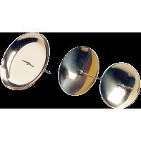 Podstavek za svečko, kovinski, Ø50 mm, zlat, 4 kosi