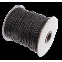 Povoščena vrvica Ø2 mm, črna, 1 meter