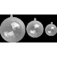 Prozorna plastična krogla, Ø80 mm, 1 kos