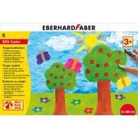 Prstne barve Eberhard Faber, komplet 6 barv