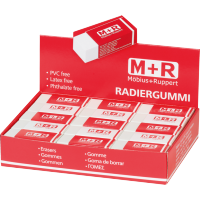 Radirka M+R, 42 x 18.3 x 11.5 mm, bela