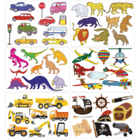 Risalne šablone, 26.8 x 18.9 x 0.2 cm, avti - dinozavri, 6 šablon