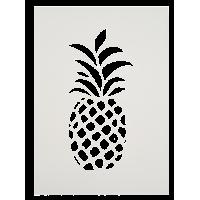 Šablona, A4, ananas