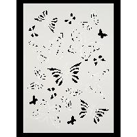 Šablona, A4, metulji