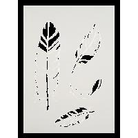 Šablona, A4, perje