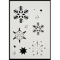 Šablona, A4, snežinke, 11 motivov