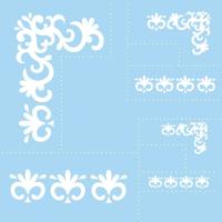 Šablona Marabu, 33 x 33 cm, klasični okvirji