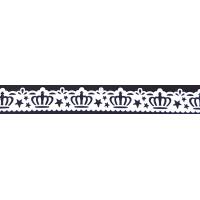 Samolepilna bordura, čipka, 18 mm x 100 cm, bela