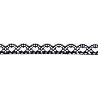 Samolepilna bordura, čipka, 18 mm x 100 cm, črna