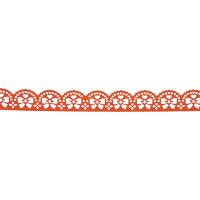Samolepilna bordura, čipka, 18 mm x 100 cm, oranžna