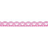 Samolepilna bordura, čipka, 18 mm x 100 cm, rožnata
