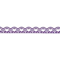 Samolepilna bordura, čipka, 18 mm x 100 cm, vijoličasta