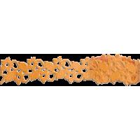 Samolepilna bordura iz papirja, čipka, 12 - 17 mm x 200 cm, oranžna