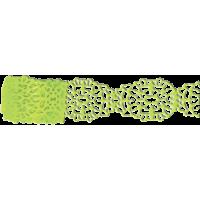 Samolepilna bordura iz papirja, čipka, 20 - 25 mm x 200 cm, zelena