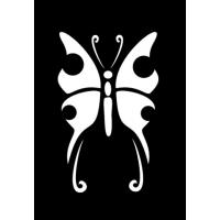 Samolepilna šablona Ki-sign, 7 x 10 cm, metulj