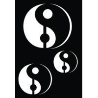 Samolepilna šablona Ki-sign, 7 x 10 cm, Yin&Yang