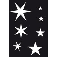Samolepilna šablona Ki-sign, 7 x 10 cm, zvezdice
