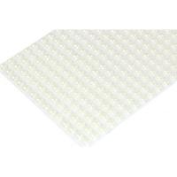 Samolepilne polovične perlice, 6 mm, krem, 252 kosov