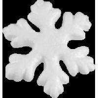 Snežinka iz stiropora, 70 mm, 2 kosa