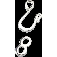 Spojni komplet - kaveljček, srebrn, 4 kompleti