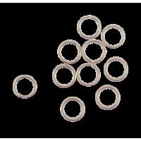 Spojni obroček, Ø4,8 mm, srebrn, 10 kosov