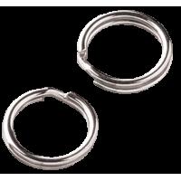 Spojni obroček, dvojni, Ø7 mm, srebrn, 10 kosov