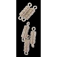Spojni vijak, valj, 10 mm, srebrn, 5 kosov