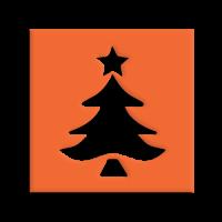 Štanca, ca. 25 mm, Božična smreka