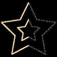 Štanca z delnim izsekom EK Success, ca. 25 mm, zvezda