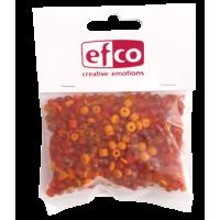 Steklene perle, mešane, 3-6 mm, oranžne, 100 g