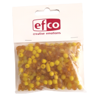 Steklene perle, mešane, 3-6 mm, rumene, 100 g