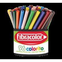 Tanki flomastri Fibracolor Colorito, lonček, 96 kosov