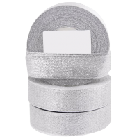 Trak Glitter, 25 mm, srebrn, dolžina 22 m
