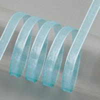 Trak Organza, 3 mm, svetlo moder