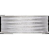 Trak z žico, 5 mm, bel / srebrn, 1 meter