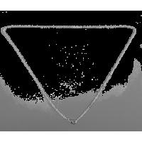 Verižica s karabinom, 2.2 x 2 x 0.5 mm, dolžina približno 50 cm, posrebrena