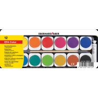 Vodene barvice v kovinski škatli, 12 barv