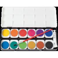 Vodene barvice v plastični škatli, 12 barv