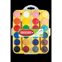 Vodene barvice v plastični škatli Fibracolor, 24 barv