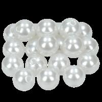 Voščene perle, Ø12 mm, biserno bele, 20 kosov