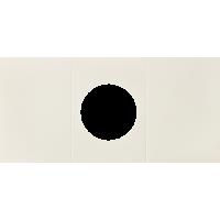 Voščilnica, krožni izrez, bela, trodelna, 165 x 340 mm
