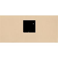 Voščilnica, kvadratni izrez, eko siva,  trodelna, 165 x 340 mm