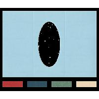 Voščilnica, trodelna, ovalni izrez, 300 x 210 mm