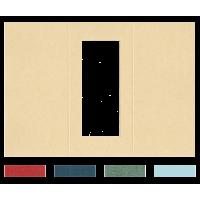 Voščilnica, trodelna, pravokotni izrez, 300 x 210 mm
