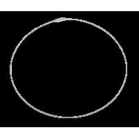 Vratni obroč - žica, 45 cm, Ø1 mm, srebrn