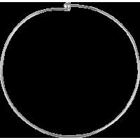 Vratni obroč, Ø15 cm / 47 cm, srebrn